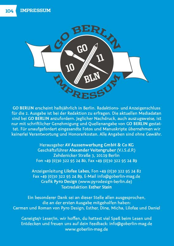 Go Berlin - Pyro Design Berlin