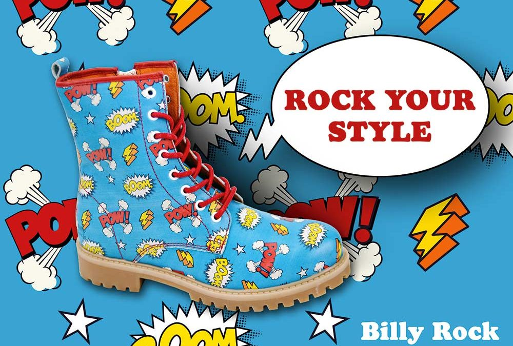 BILLY ROCK Shoes & Boots – Webseite und Poster