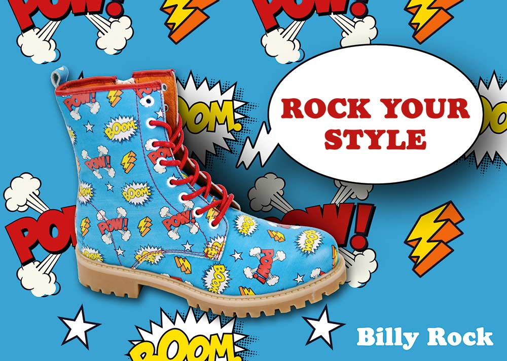 BILLY ROCK Shoes & Boots - Webseite und Poster