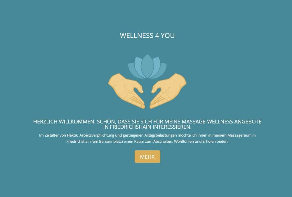 WELLNESSMASSAGE4U – OnePage Webseite