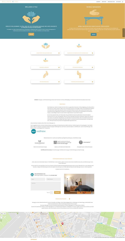 WELLNESSMASSAGE4U - OnePage Webseite