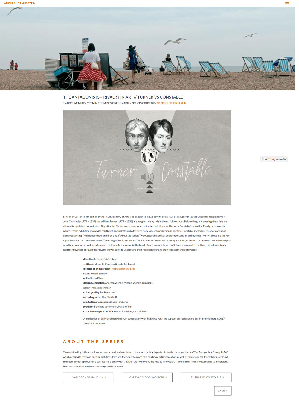 Webseite für ANDREAS GRÄFENSTEN - WRITER & DIRECTOR