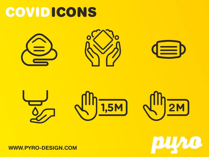 Kostenlose Covid-19 Icons